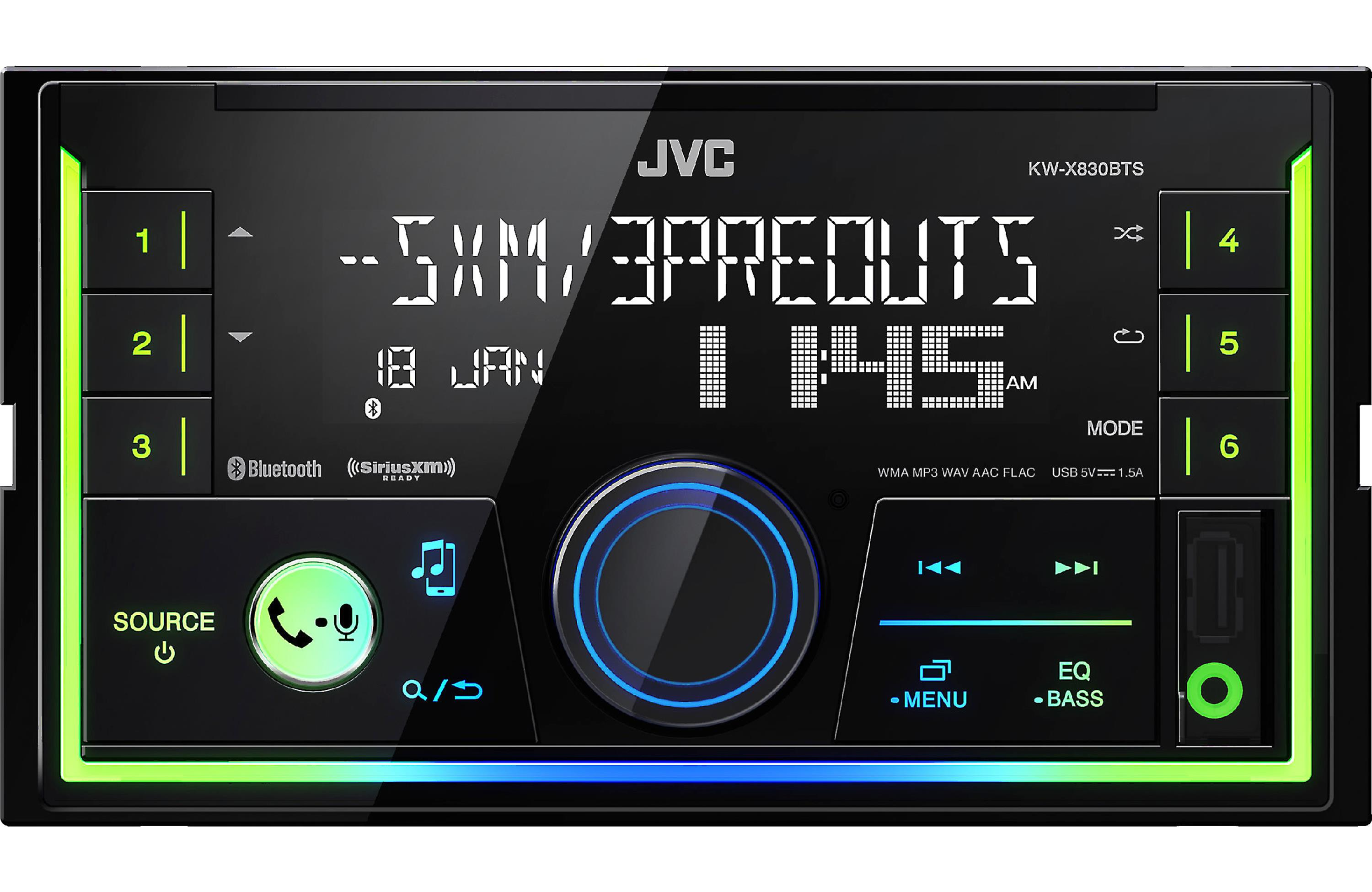 JVC KW-X830BT MECHLESS DOUBLE DIN STEREO WITH BLUETOOTH